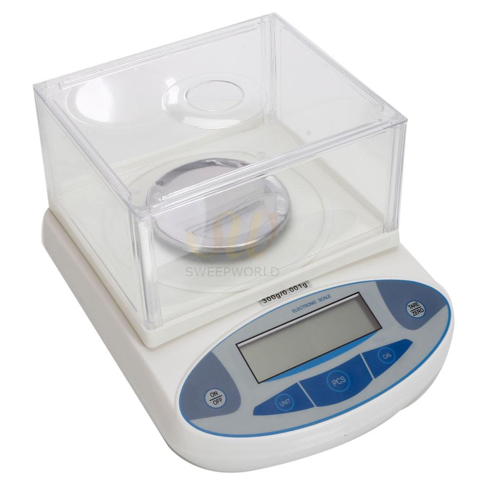 300 x 0.001 g Lab Analytical Digital Balance Scale White ...