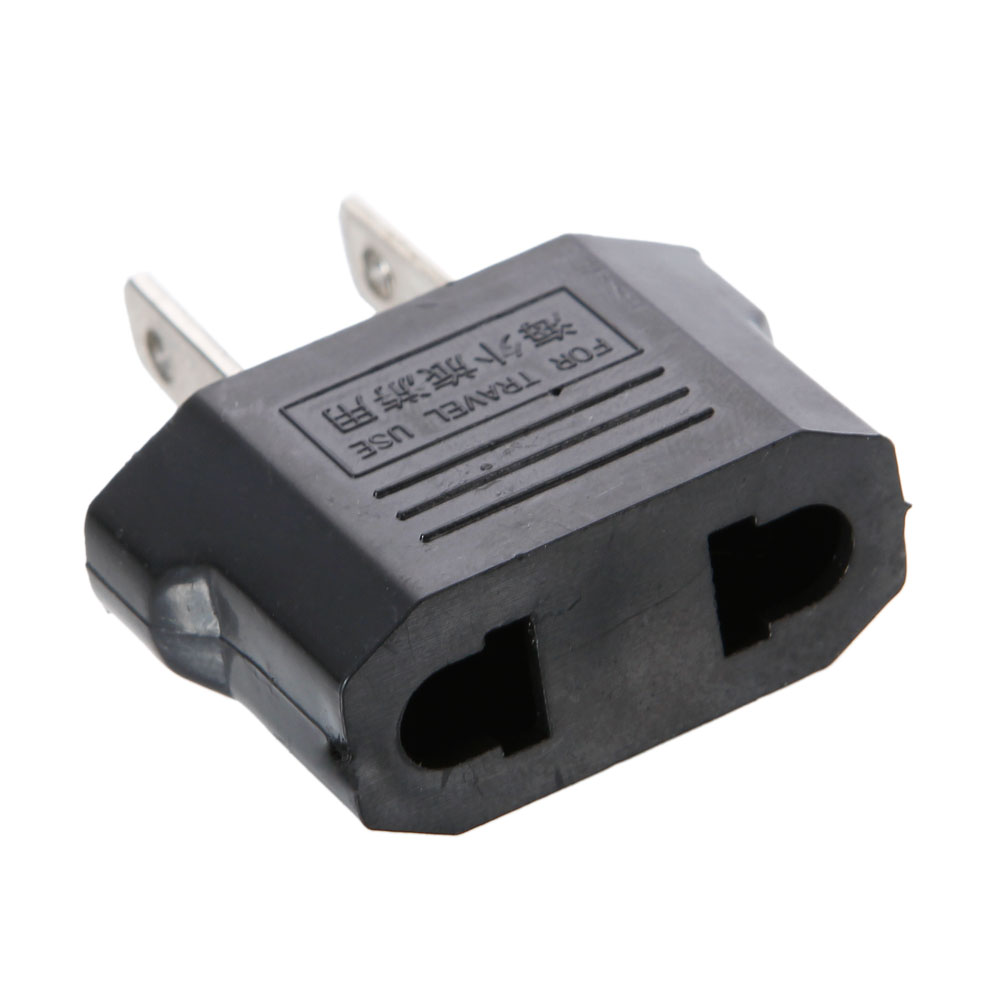 European EU To US Travel Charger Adapter Adaptor Two-Pin